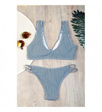 44c4ea9176e BMJL Womens Detachable Striped Swimsuit; Women's Bikini Sets; 2018 New Women's  Bikini Swimsuits Clearance Sale; Cheap Designer Women's Clothing