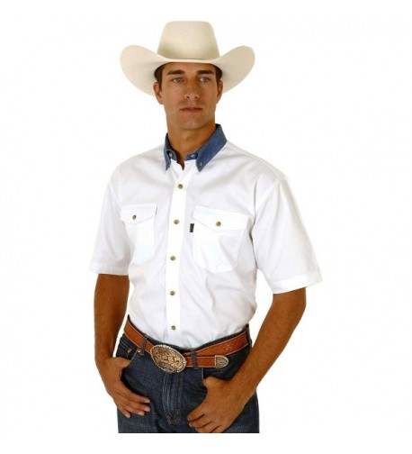 Roper White Twill Collar Western