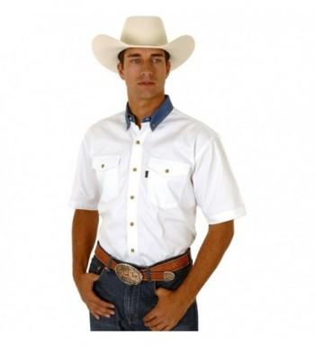 Roper White Twill Collar Western