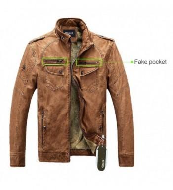 Fashion Men's Faux Leather Jackets Wholesale