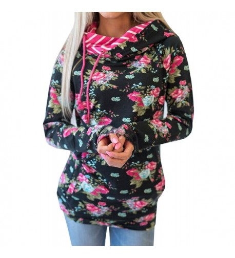 Hibluco Printed Pullover Sweatshirts Pockets