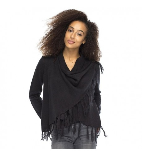 Back Bali Cardigan Fringe Sweater