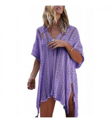 Glomeen Fashion Swimsuit Beachwear Crochet