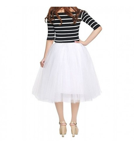 YOUTUDRESS Women 7 Layer Tulle Petticoat