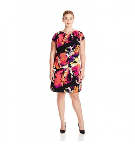 MSK Womens Plus Size Shoulder Fuchsia