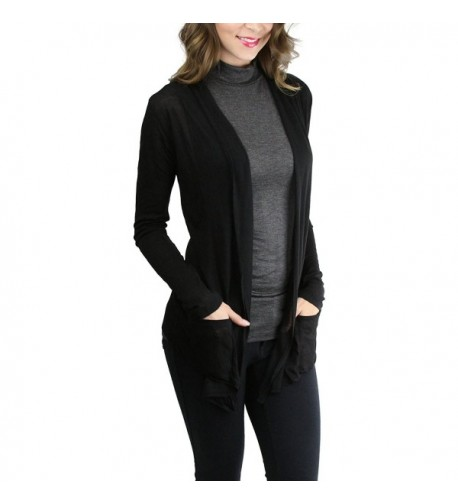 ToBeInStyle Womens Sleeve Waterfall Cardigan