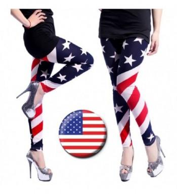 SPJ American Stretchy Leggings Patriotic