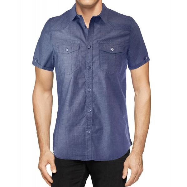 StraightFaded Fashion Mens Woven Shirt