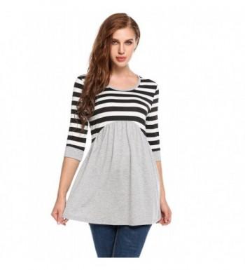 Zeagoo Womens Casual Patchwork T Shirt