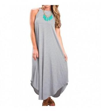 Halife Summer Sleeveless Stripe Sundress