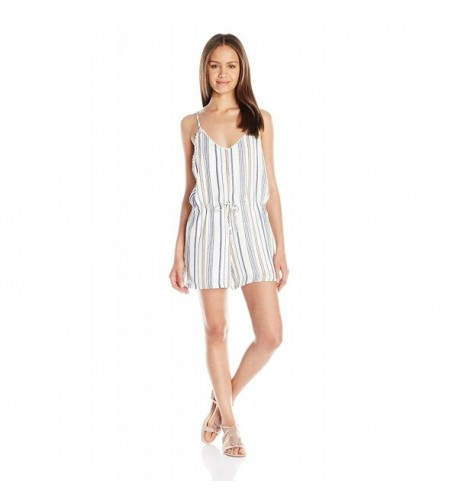 Papercrane Womens Belted Stripe Romper