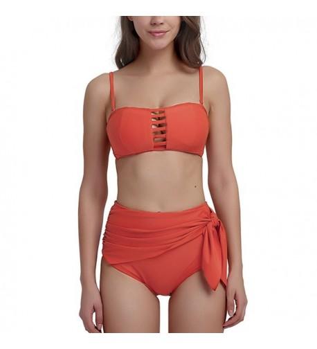 Waisted Swimsuit Bathing Bandeau Swimwear