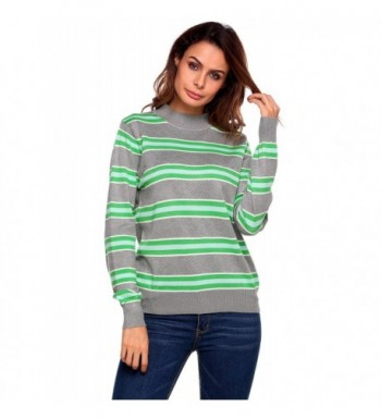 Elesol Striped Pullover Knitted Sweater