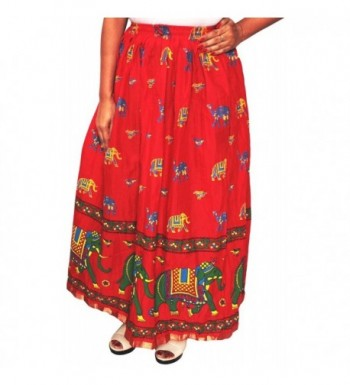 Women Printed Cotton Skirt Clothes