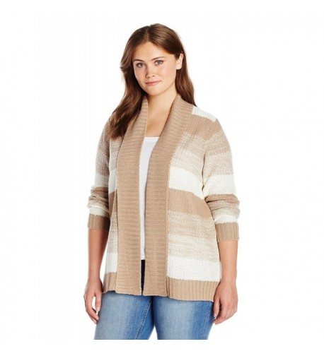 Jason Maxwell Womens Striped Cardigan