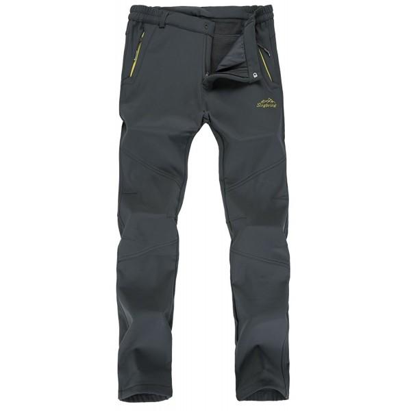 Outdoor Hiking Ski Pants For Men Women - Gray02(with Fleece ... 3516f6e27