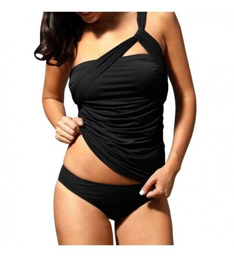 GAMISOTE Shoulder Swimsuits Tankini Bathing