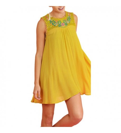 Umgee Womens Spring Sleeveless Embroidered