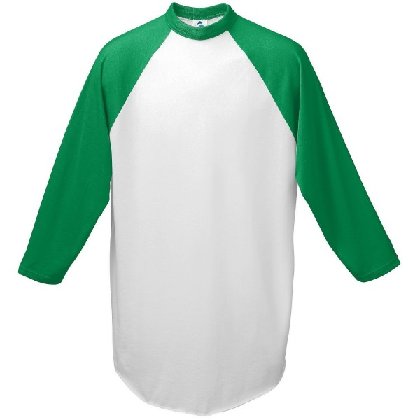 Augusta Baseball Jersey Raglan sleeves White Green Adult LG