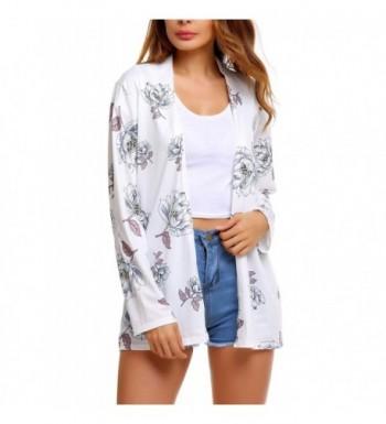 16057a0cc6 ELESOL Womens Floral Chiffon Cardigan  Cheap Real Women s Fashion Hoodies  Wholesale ...