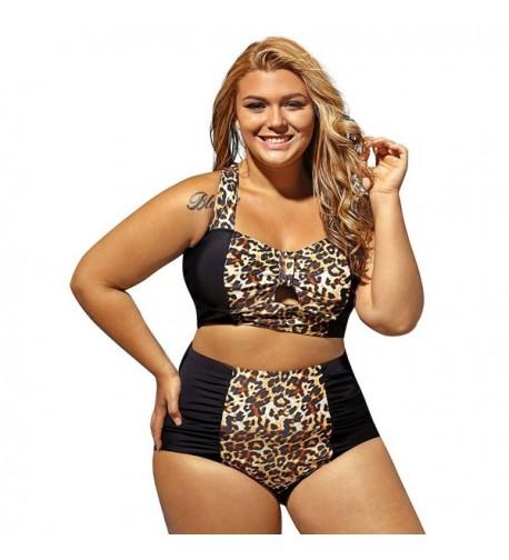Leopard Bathing Swimwear Control Swimsuits
