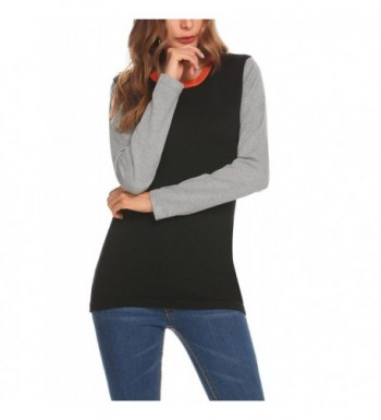 Mofavor Womens Stitching Pullover Sweater