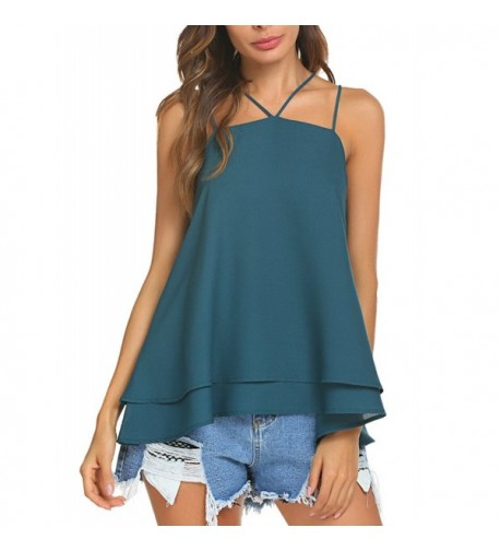 Halife Shoulder Sleeveless Chiffon Blouses