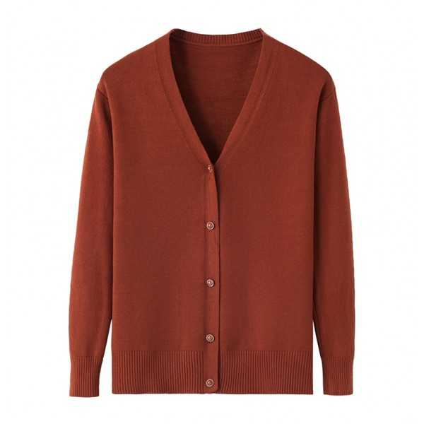 Women Long Sleeve V-Neck Button Cardigans Sweaters
