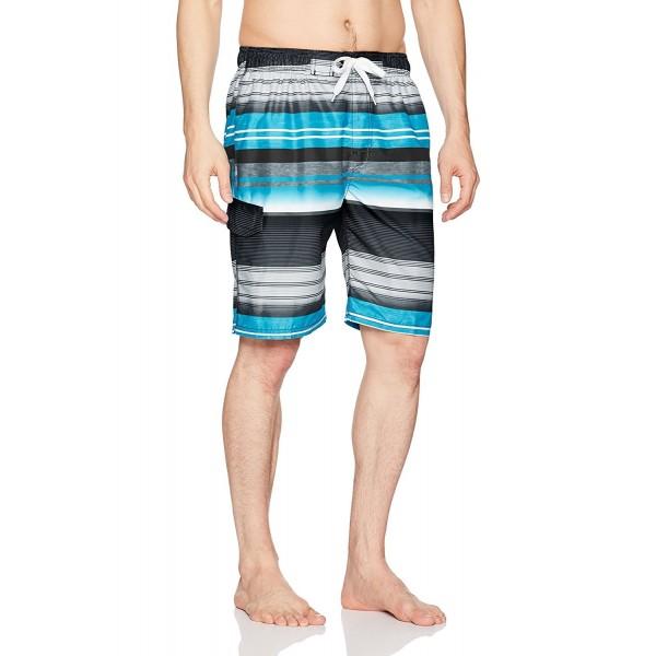 f441b05527 ... Men's Victor Stripe Quick Dry Beach Board Shorts Swim Trunk - Black -  C5187DQH3AN. Kanu Surf Victor Stripe XX Large