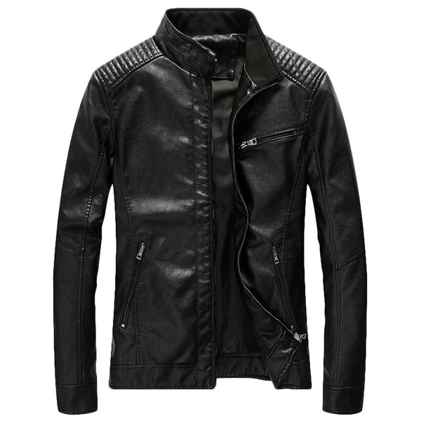 Youhan Casual Bomber Leather Jacket