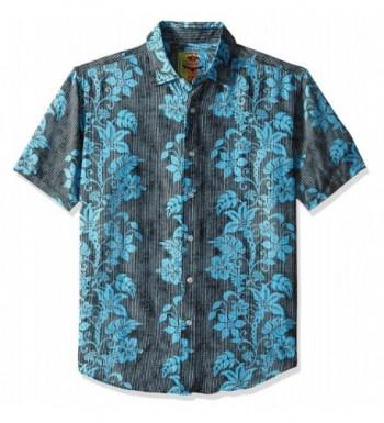 Margaritaville Floral Stripes Shirt Medium