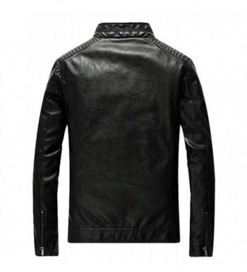 Men's Faux Leather Coats On Sale