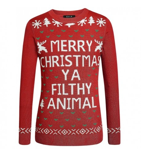 SSLR Pullover Christmas Sweater Large