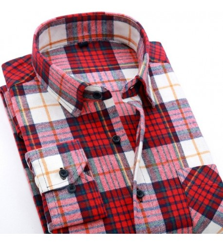 CATERTO Sleeve Flannel Casual Checked