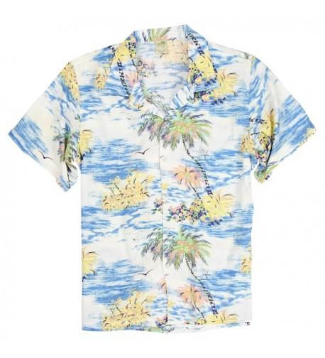 Sleeve Hawaiian Tropical Patterns Shirts
