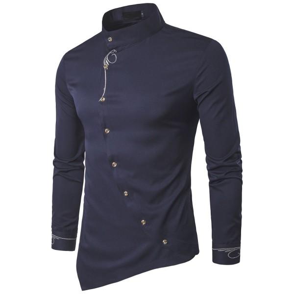 TONLEN Shirts Regular Embroidery A26 Dark