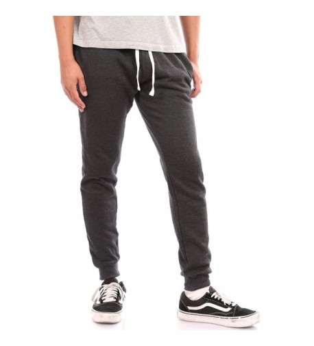 Joggers Sweatpants Fleece Elastic Charcoal