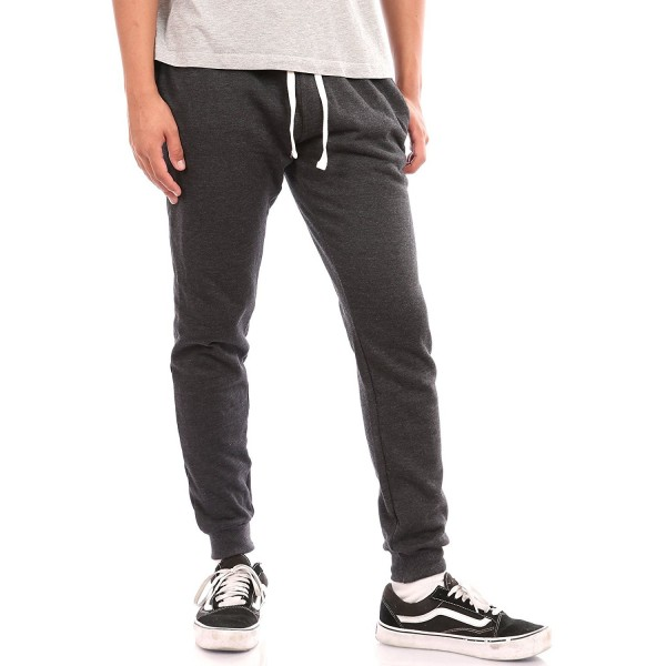 Joggers Sweatpants Fleece Elastic Charcoal
