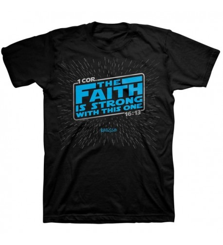 Faith Strong Tee Black Christian