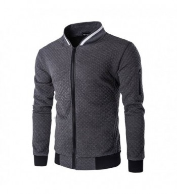 SHDAS Square Pattern Quilted Bomber
