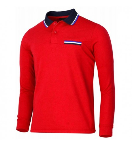 BCPOLO Sleeve Pique Cotton Shirts red