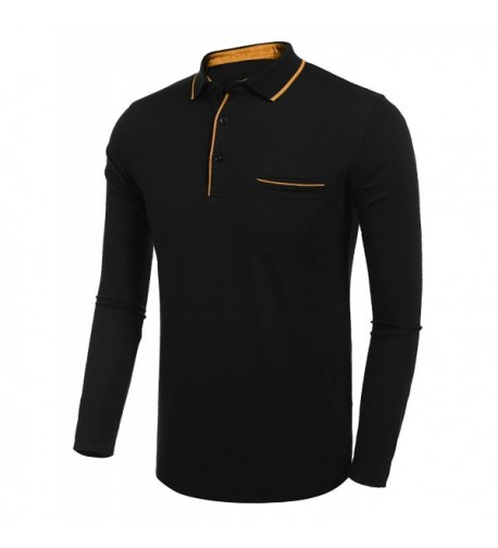 BULGES Collar Sleeve Casual T Shirt