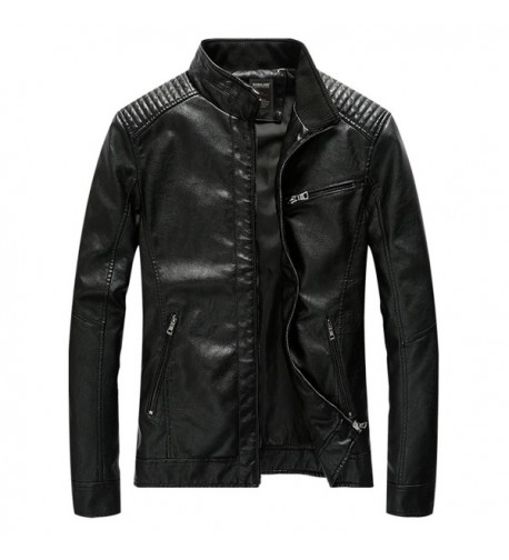 HOWON Vintage Collar Leather Jacket