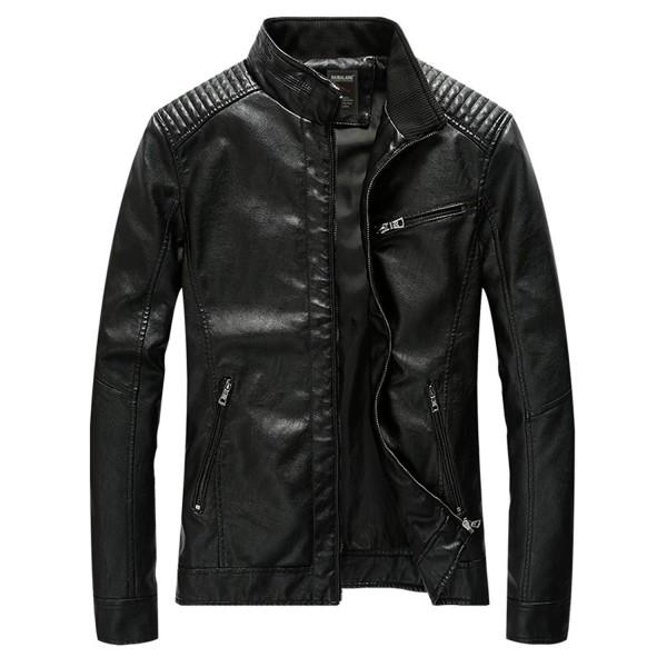 HOWON Vintage Collar Leather Jacket