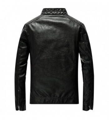 2018 New Men's Faux Leather Jackets for Sale