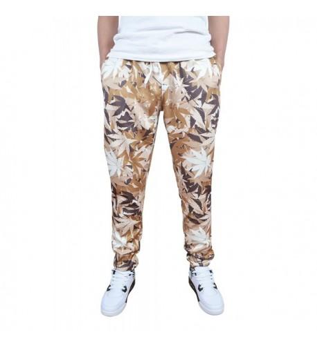 Cityoung Printed Jogger Pants Khaki