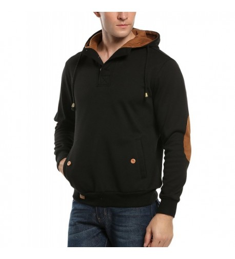 COOFANDY Sherpa Fleece Sweatshirts Pullover