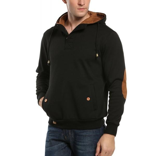 COOFANDY Sherpa Fleece Sweatshirts Pullover