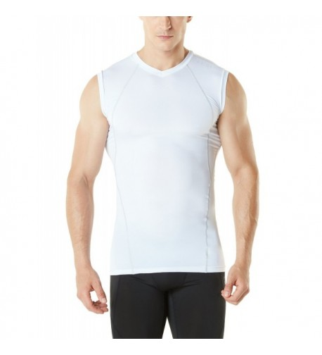TM YUV35 WHT_Medium Tesla WinterGear Compression Sleeveless