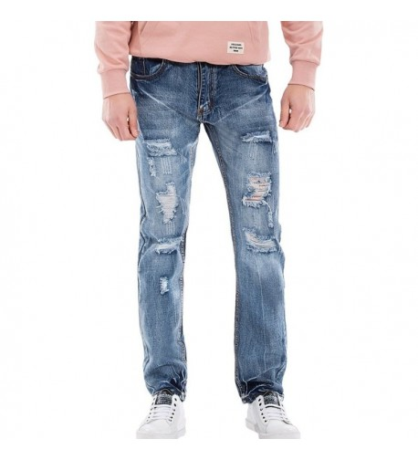 WULFUL Stretch Destroyed Trousers Casual